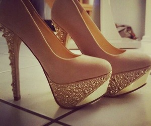 high heels, shoes, and glitzer image