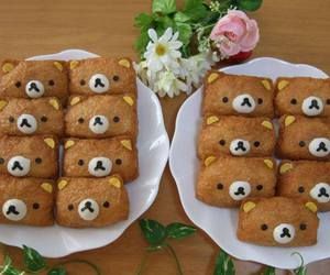 food, rilakkuma, and bear image