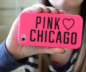 pink, girl, and chicago image
