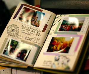 book, memories, and photography image