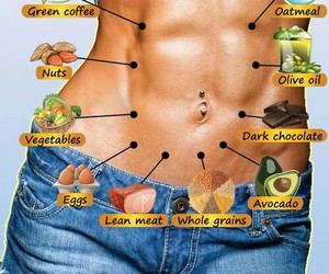 belly, food, and fit image