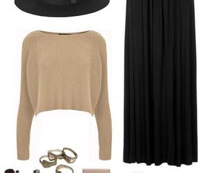 autumn, maxi skirt, and fall outfit image
