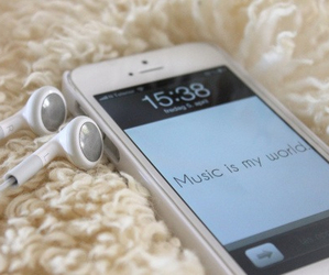 music, iphone, and world image