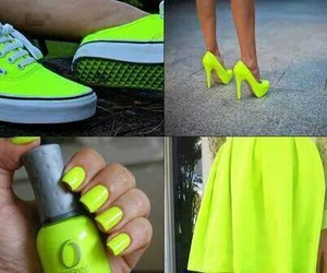 neon, nails, and shoes image