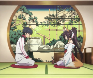 anime, bamboo, and tea image