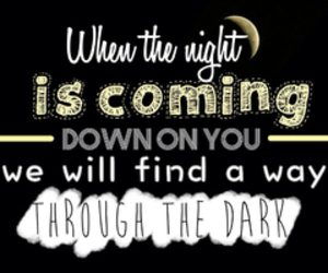 song, through the dark, and one direction image