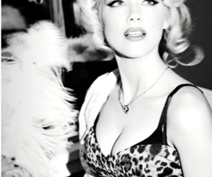 beautiful, black and white, and blonde image