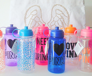 pink, Victoria's Secret, and water image