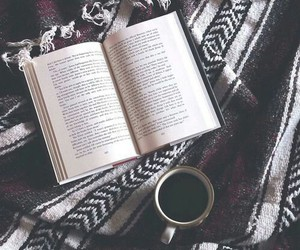 book, duvet, and winter image