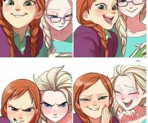 frozen, anna and elsa, and fun image