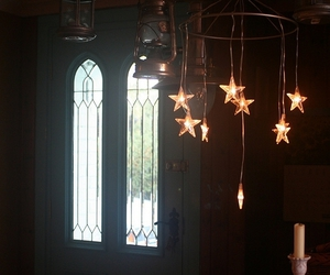 chandelier and stars image