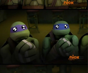 cry, donatello, and eyes image