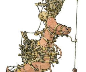 beast, dinosaur, and machine image