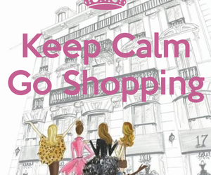 shopping and keep calm image