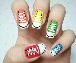 nails, converse, and nail art image