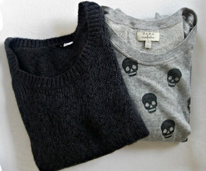 fashion, sweater, and black image