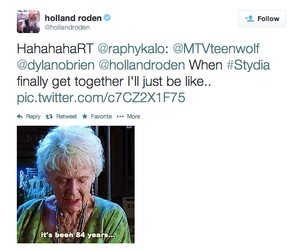 teen wolf, twitter, and holland roden image