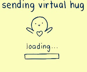 hug, virtual, and loading image