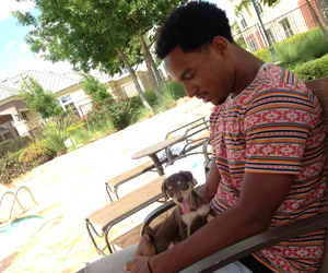 nike, puppy, and black guy image