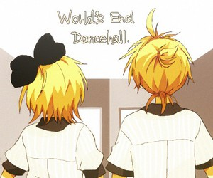 an, kagamine rin and len, and world's end dancehall image