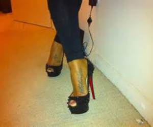 christian louboutin, fashion, and foot tattoo image