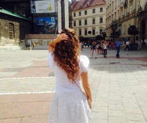 brown hair, curly hair, and vienna image