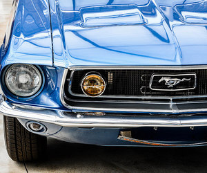 blue, classic, and ford image
