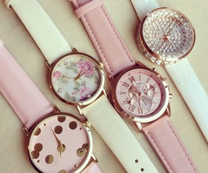 flowers, time, and pink image