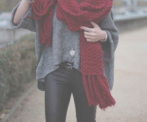 fashion, scarf, and outfit image