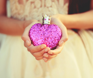 perfume, heart, and dress image