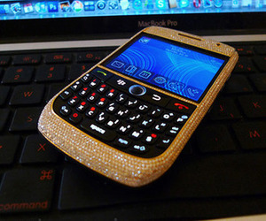 blackberry, phone, and glitter image