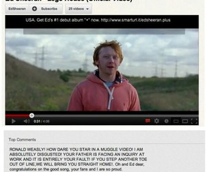 funny, harry potter, and ron weasley image