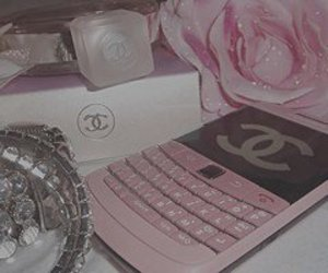 chanel, blackberry, and pink image