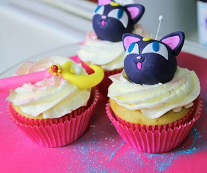 cupcake, sailor moon, and kawaii image