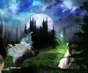 magical! and fairy by the moon image