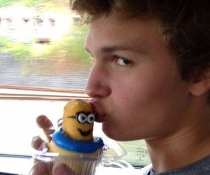 ansel elgort, minions, and the fault in our stars image