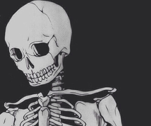 skeleton, skull, and black image