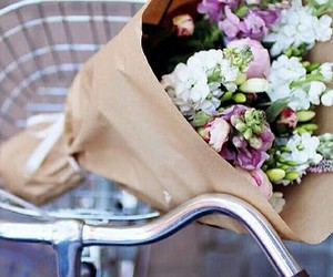 flowers, bike, and summer image