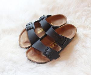 birkenstock, black, and fashion image
