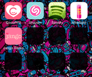 cool, pink, and fondo image