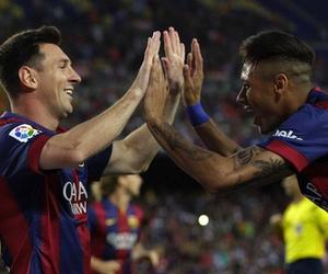 messi, neymar, and Barcelona image