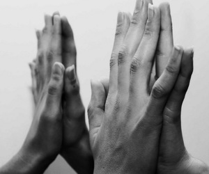 hands, black and white, and tumblr image