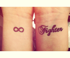 tattoo, fighter, and infinity image