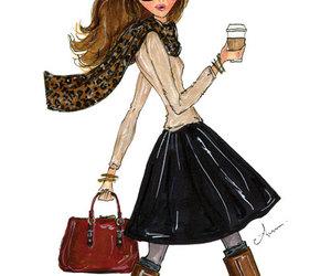 fashion, girl, and drawing image