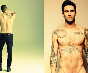 adam, adam levine, and shirtless image