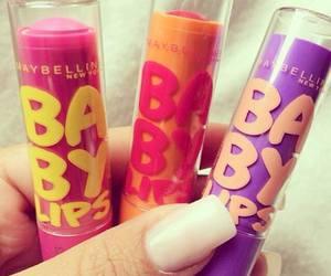 baby lips, lips, and Maybelline image