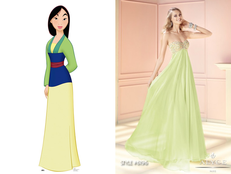 Disney Princess Inspired Prom Dresses on We Heart It