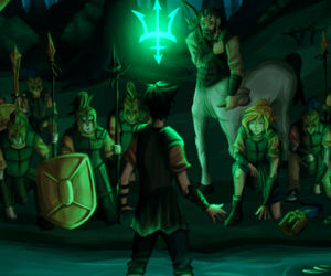 animated, percy jackson, and comic image