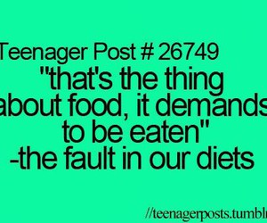 food, funny, and the fault in our stars image