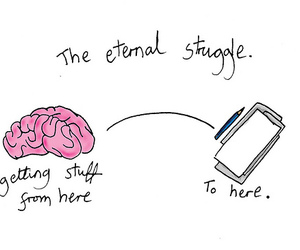 brain, struggle, and Paper image
